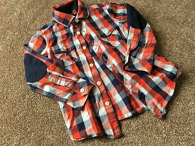 Boys 4-5 Years Ben Sherman Checked Shirt Long Sleeve Red  Blue White S/N201