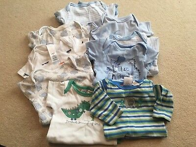 Boys X9 0- Months New Baby Newborn Vests Mothercare S/N418