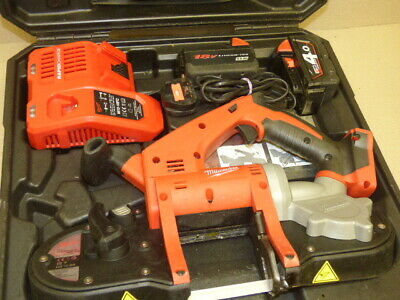 Milwaukee M18 HD18BS Bandsaw + 4ah and 3.0ah li-ion Batteries + Charger + Case
