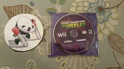 Nickelodeon Teenage Mutant Ninja Turtles (Nintendo Wii) Disc Only in Plain Case