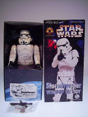 GSR ROBOT GSCOM STAR WARS *STORMTROOPER* OSAKA TIN AGE, 24cm NEU/NEW/NEUFnBOX