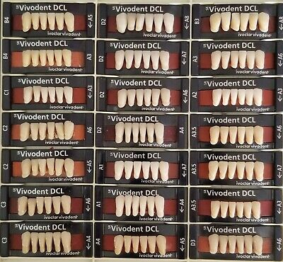 Ivoclar Vident DCL lower Anterior Denture Teeth, Various shades and moulds,