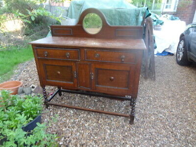oak sideboard with removable mirrored back piece