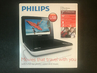 """Philips Portable Disc Player 7"""" - PD7030/05 - White - Boxed"""