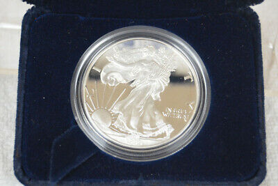 1999 P Proof Silver American Eagle Dollar with Box and COA - Free U.S. Shipping