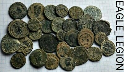 GREAT Lot of 30 --TOP QUALITY- Uncleaned Roman Coins - weight 82 Grams!