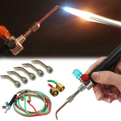 Hot Jewelry Jewelers Micro Mini Gas Little Torch Welding Soldering kit 5 tips