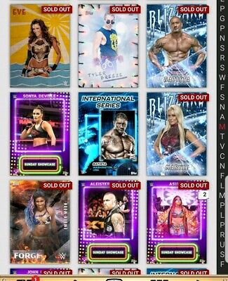 Topps WWE Slam Digital Card 9x Bundle of Motion Cards as pictured bundle 1