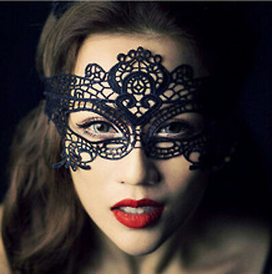 BLACK LACE MASK Face Eye Masquerade Carnival Sexy Fancy Dress Party Ball Dance