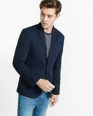NWT EXPRESS SLIM fit photographer knit mens suit blazer s small