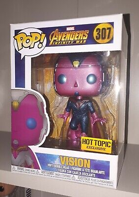 Funko Pop Vision #307 Marvel Avengers Infinity War Hot Topic Exclusive RARE