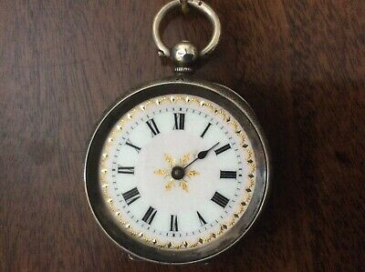 Antique Silver Victorian Fob Watch