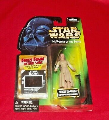 Star Wars: Power of the Force Green Card Leia in Ewok village Outfit