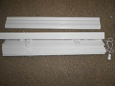 """Faux Wood Blinds 30""""x 72"""" White 2""""  Mobile Home RV Camper House *NEW*"""
