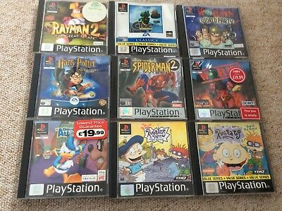 PS1 Games For Kids-Rugrats,Harry Potter,Croc,Rayman Etc