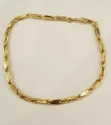 New 14K Gold Elegant Bracelet 2 Grams NOT SCRAP Rope Braid Design Clip Latch