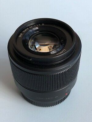 Panasonic Lumix G 25mm F1.7 ASPH HH025EK MFT Lens - Black