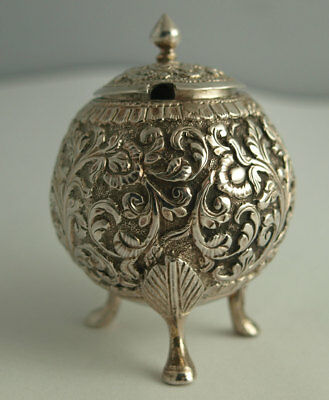 Indian Solid Silver Gourd Shaped Mustard - 62g