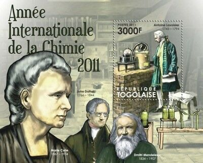 Togo 2011 Sheet Mnh Year Of Chemistry Mendeleev Marie Curie Nobel Prize 1A