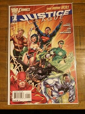 Justice League #1-9 New 52 Geoff Johns Jim Lee