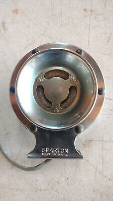 "Vintage Chrome Sparton USA 5"" Marine Boat Car Automobile Motorcycle Horn"