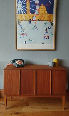 Small mid century sideboard/record Cabinet