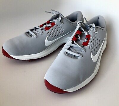 size 40 86ff9 b2bc6 Size 10 New Men s Nike Air Zoom Tiger Woods TW71 Golf Shoes Gray Red AA1990-