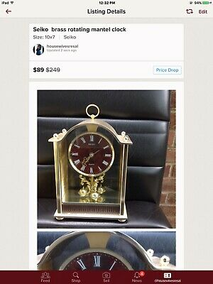 Seiko Brass Rotating Mantle Clock