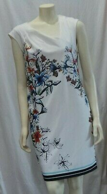 Eci Ivory Multi Color Paisley Floral Dress Stretch Size 10