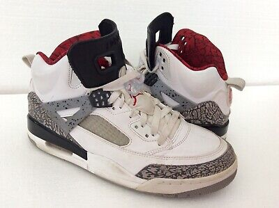 newest 02435 ca473 Nike 315371-122 Air Jordan Spizike White Black Red Cement Basketball Shoes  8.5