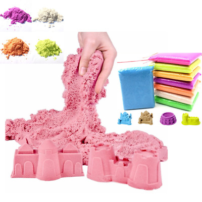 Dynamic Kinetic Soft Magic Sand Educational Colored Clay Slime Indoor Play 100g