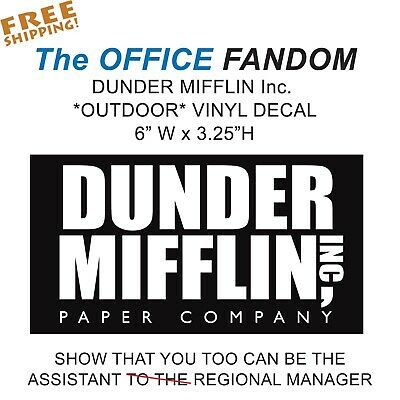 photograph about Dunder Mifflin Name Tag Printable called THE Business office DECAL DUNDER MIFFLIN Die Lower Decal Sticker Vinyl