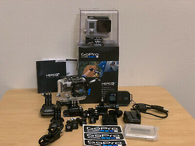 GoPro HERO3+ Black Edition Action Camera with WiFi Remote + Accessories + Extras