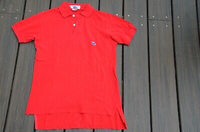 look good shoes sale wholesale online official images VINTAGE RED CHEMISE Lacoste 1/2 Patron made in France polo ...
