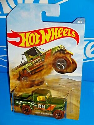Hot Wheels Wal-Mart 2019 Off Road Truck Series 3/6 Jeep Scrambler Green