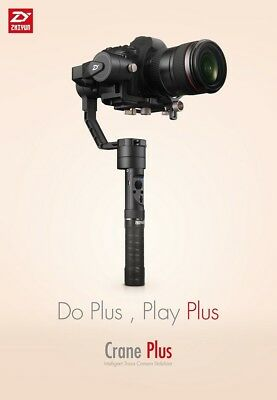 2018 Zhiyun Crane Plus 360° 3-Axis Handheld Gimbal Stabilizer for DSLR Cameras