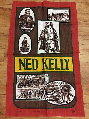 Vintage Collectable Retro Ned Kelly Tea Towel