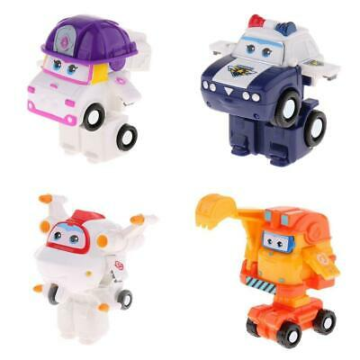 4X Animation Character Super Wings ZOEY KJM Astro Scoop Transforming Robot