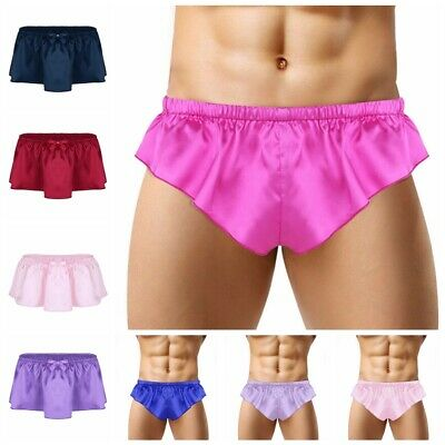 Mens Sexy Thong Underwear Shorts Pouch Skirted G-string Underpants Brief Panties