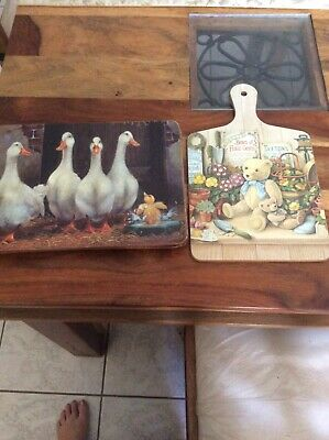 From England Old Country Style Place Mats And Chopping Board