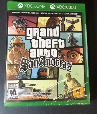 GTA Grand Theft Auto San Andreas [ G2 Case ] (XBOX ONE & XBOX 360) NEW