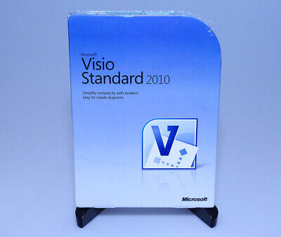 Microsoft Office Visio Standard 2010 D86-04533 new sealed full retail GENUINE