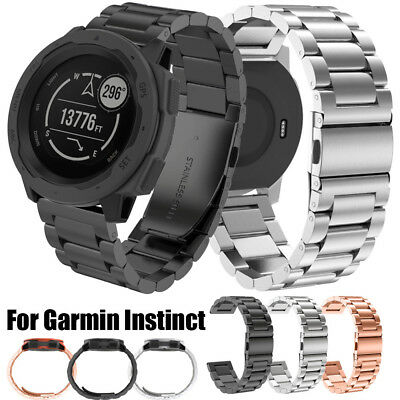 Stainless Steel Replacement Watch Band Strap Wristband For Garmin Instinct