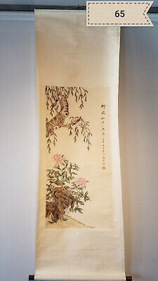 Jiang Tingxi flowers and birds Antique Scroll