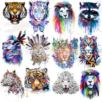 Wolf Tiger Sew On Iron On Patch Badge Fabric Bag Clothes Applique Craft Transfer