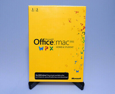 Microsoft Office 2011 for Mac Home and Student 1 user 1 mac GZA-00136 NEW