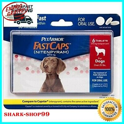 HOT Oral.Flea Tablets 25 lbs 6 Count for Dogs Pet treatment Control Pills Kill