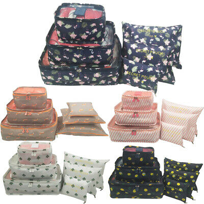 6X Large Travel Storage Bag Clothes Packing Cubes Space Saving Luggage Pouch Set