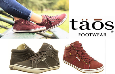 Taos Footwear Canvas comfort lace up boot sneakers with arch support - Top Star