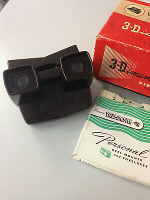 SAWYER'S VIEWMASTER LIGHTED VIEWER ORIGINAL BOXED 3 disc